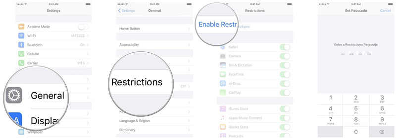 disable-restrictions-on-ios-11