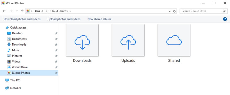 download icloud photos on windows
