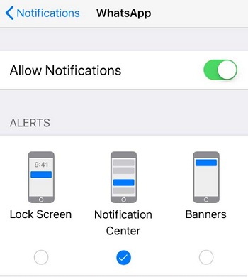 ios lock screen notifications