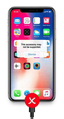 fix iphone accessory not supported issue