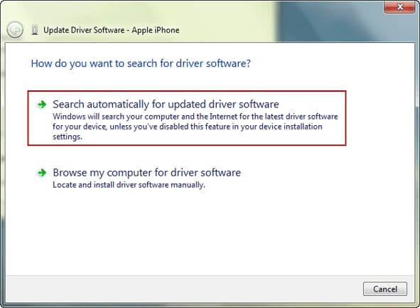 automatically update the driver