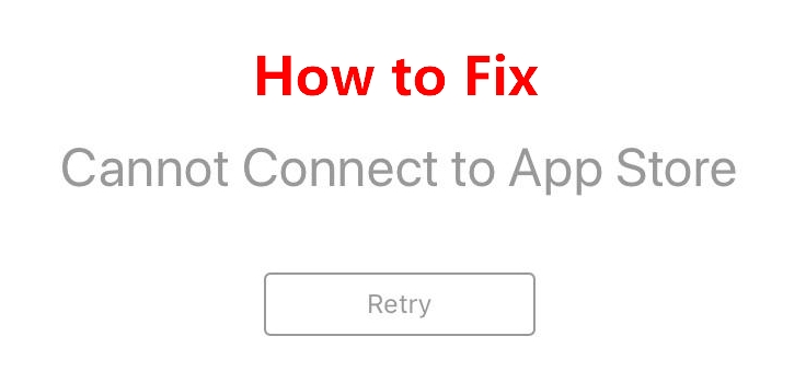 cannot connect to app store