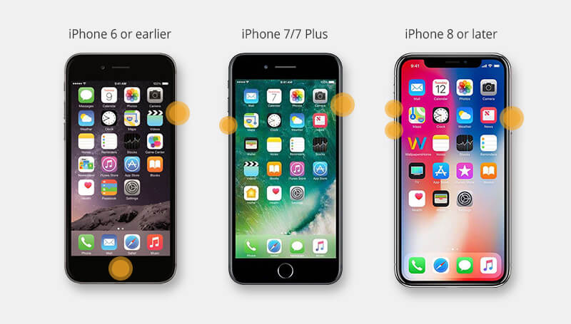 steps to hard reset different iphones