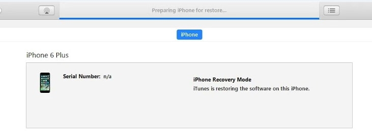 iTunes Stuck on Preparing iPhone for Restore