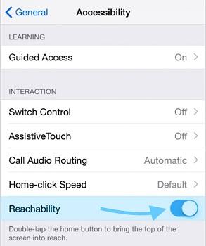 turn reachability off