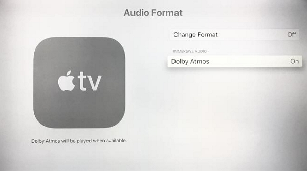 change apple tv audio settings