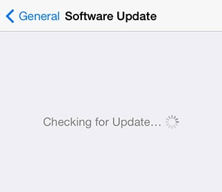 iPhone stuck on checking for update