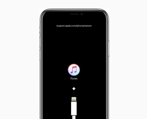 iPhone stuck on iTunes logo