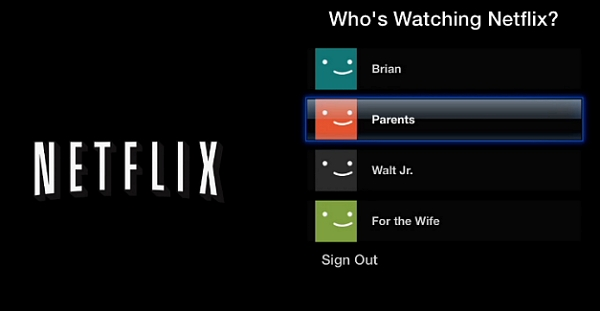 change Netflix profile on apple tv