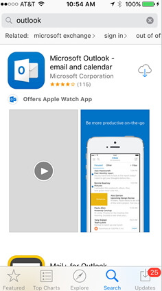 use-outlook-app-on-iphone
