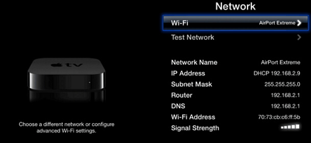 check-network-apple-tv
