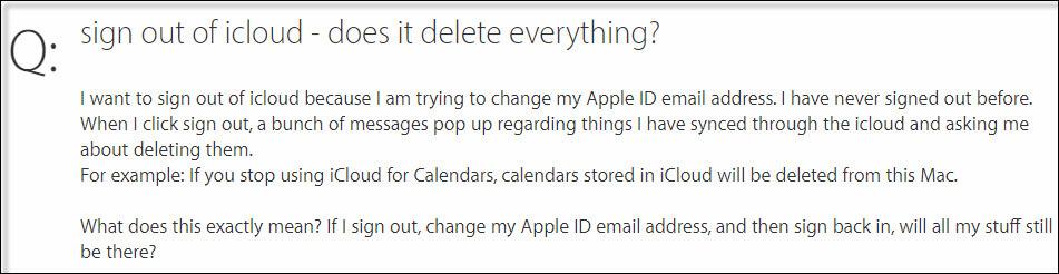 Problème iCloud