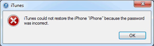 itunes could not restore iphone backup
