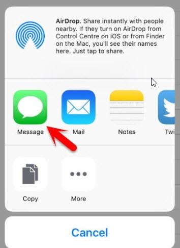 click message icon