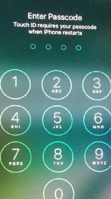 enter passcode required