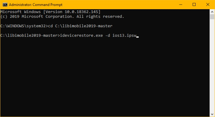 Windows 10 Command Line