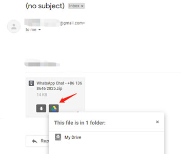 download email attachment to google drive