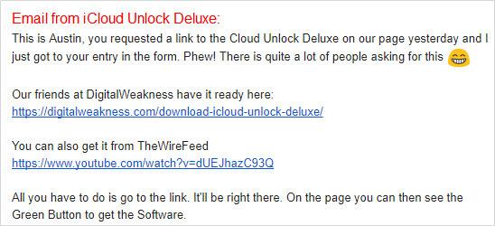 icloud unlock deluxe email