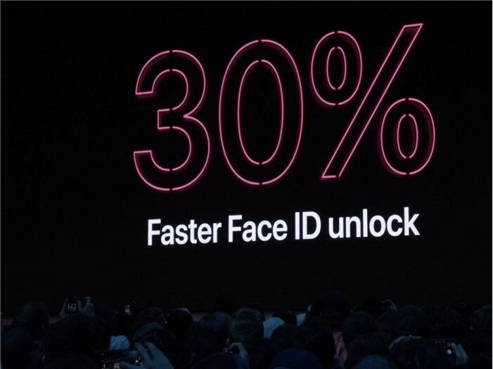 30% faster Face ID unlocking