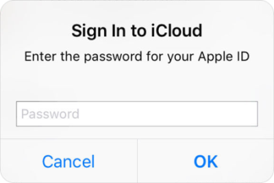 iPad keeps asking for password
