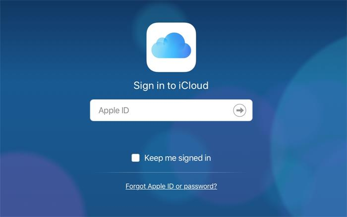 sign in icloud account