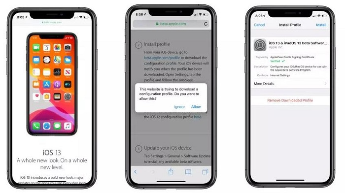 install iOS 13