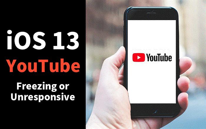 youtube freeze on ios 13
