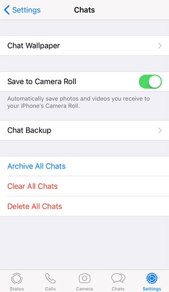 open save to camera roll on iphone whatsapp