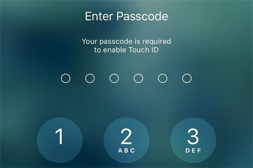iphone 7 asks for passcode
