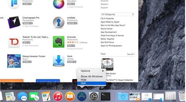 quit app on mac