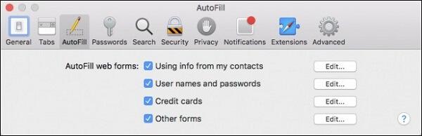 delete autofill file