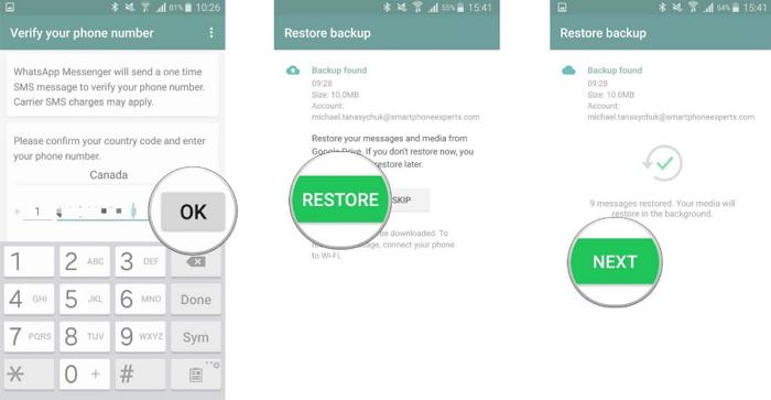 restore google drive backup