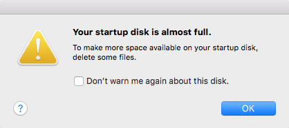 Is Your Mac Startup Disk Almost Full? Here is The Fix