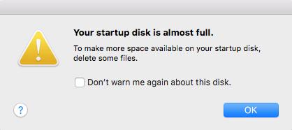 mac disk full