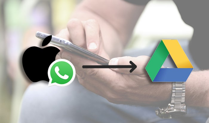 transfer whatsapp iphone to google drive