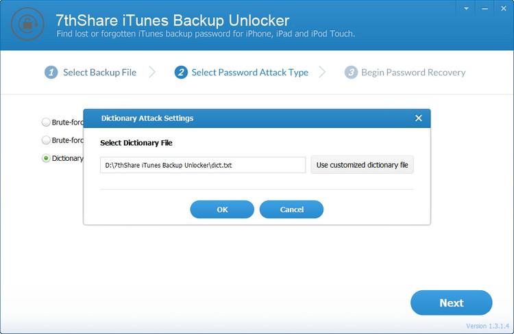 select unlocking method