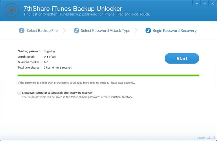 unlocking itunes backup