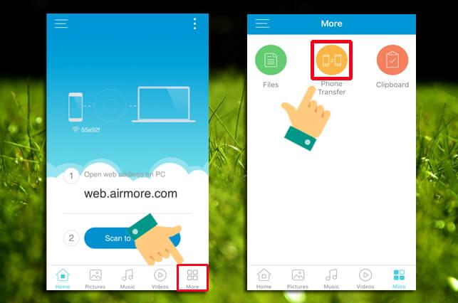 airmore phone transfer