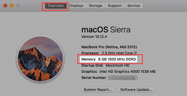 check ram on mac