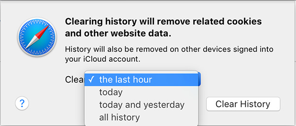 clear all safari history mac