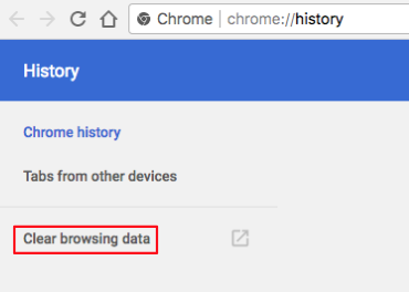 clear chrome browsing history