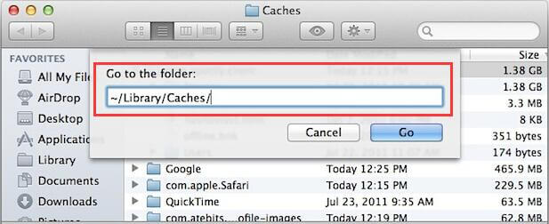 clear mac caches
