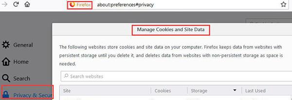 clear mac firefox cookies
