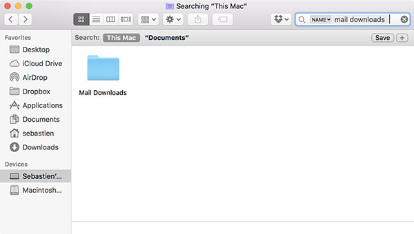 clear mail attachments mac