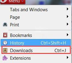 clear opera downloads mac