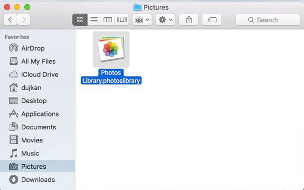 clear photo library mac