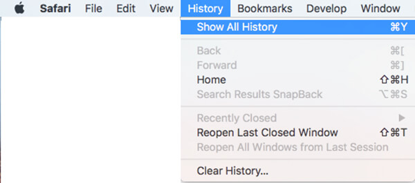 clear specific safari history mac