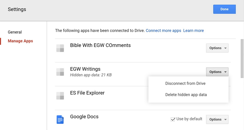 Delete Android WhatsApp Backup in Google Drive