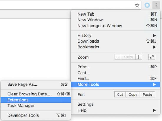 delete chrome extensions mac