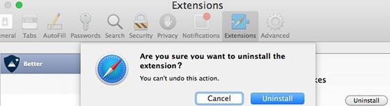 uninstall extensions
